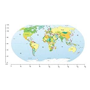 azutura Mapa del Mundo político Educativo Vinilos Disponible en 8 tamaños. Digital