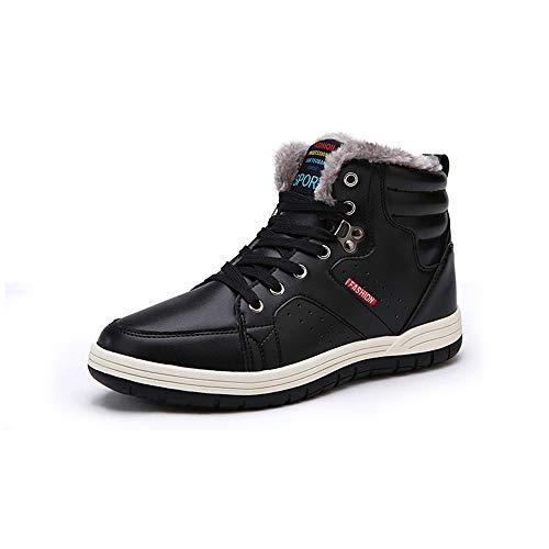 excellent.c Winter Booties Men's Cotton Shoes Casual Shoes Martin Boots(Black 48/15 D(M) US Men)