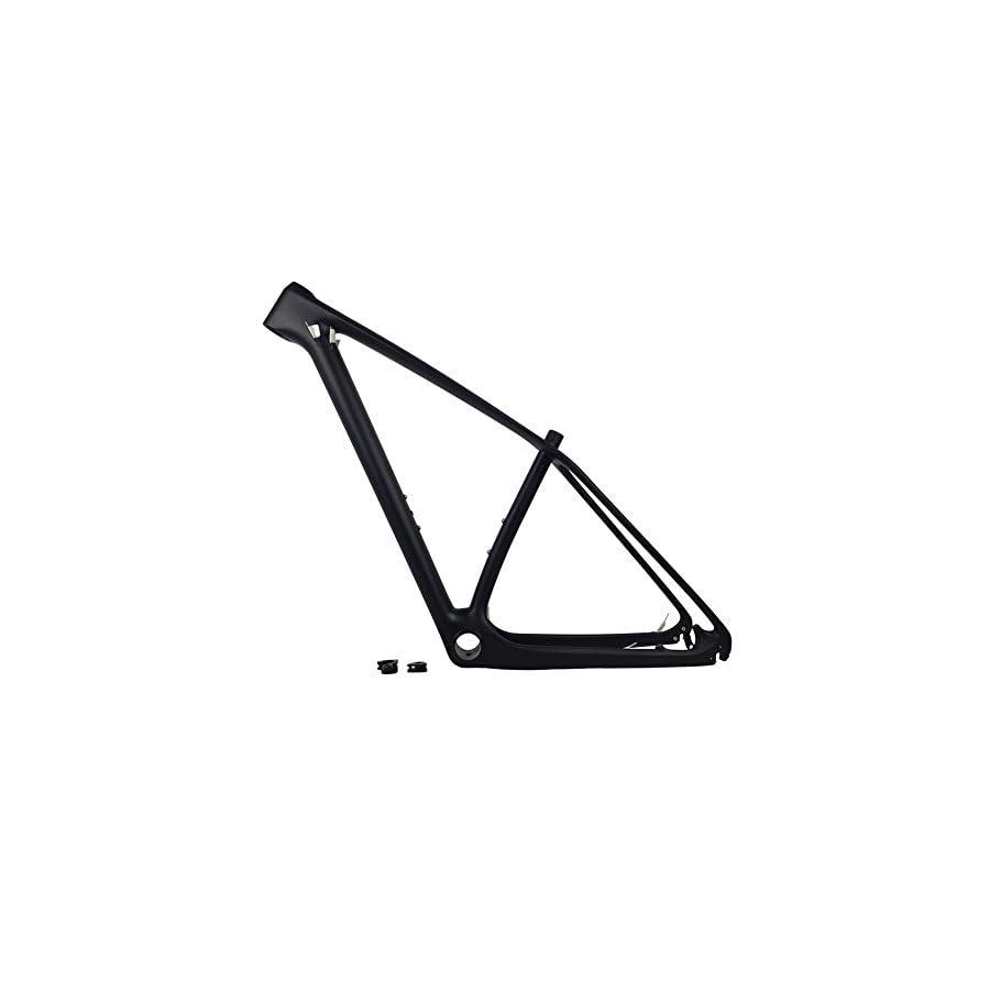 FASTEAM 29er Black Matt Carbon Fiber Mountain Bike Frame 135x9 and 142x12mm Thru Axle Compatible MTB Carbon Frame