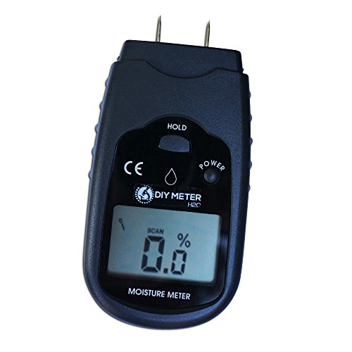 Moisture Meter, Moisture Testers,Wood Moisture Meter for testing Wood and Drywall. Test for Moisture Content with DIY Moisture Meter. LCD Display. Battery Included. by DIY METER H2O