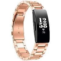 Chofit Bandjes Compatibel met Fitbit Inspire HR/Inspire 2/Inspire Luxe Roestvrij Staal Business Horlogeband Vervanging…