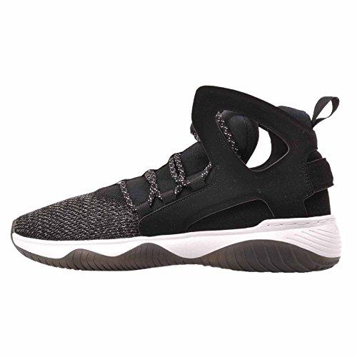 Nike Kids Air Flight Huarache Ultra (GS) Black/Black White Volt Basketball Shoe 6 Kids US