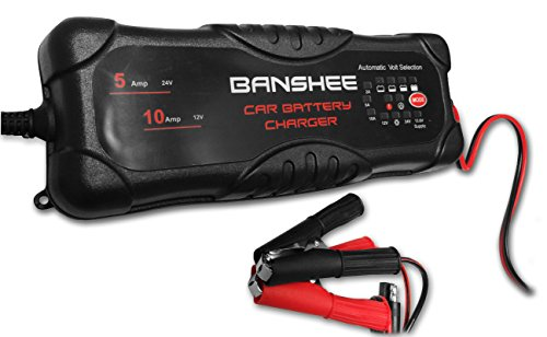 (banshee Automatic 12 Volt and 24 Volt Smart Battery Charger - Easy to USE- Durable)