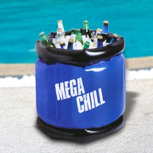 MEGA CHILL Yard Play Large Inflatable Cooler (Holds ~48 Cans)