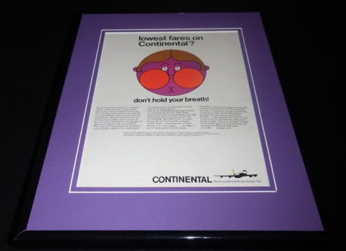 1966-continental-airlines-framed-11x14-original-vintage-advertisement