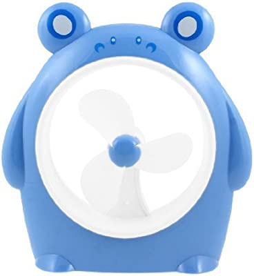 eDealMax del cerdo de la batería Power PC USB del ordenador portátil del refrigerador del Mini ventilador Azul Blanco