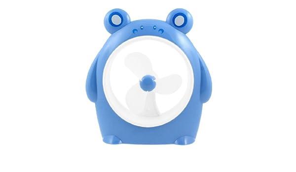 Amazon.com: eDealMax del cerdo de la batería Power PC USB del ordenador portátil del refrigerador del Mini ventilador Azul Blanco: Home & Kitchen