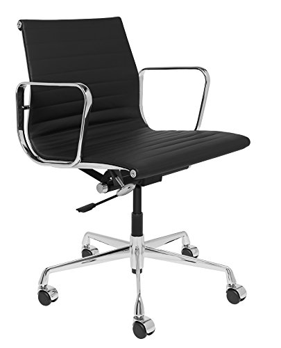 SOHO Premier Ribbed Management Chair (Ribbed, Black)