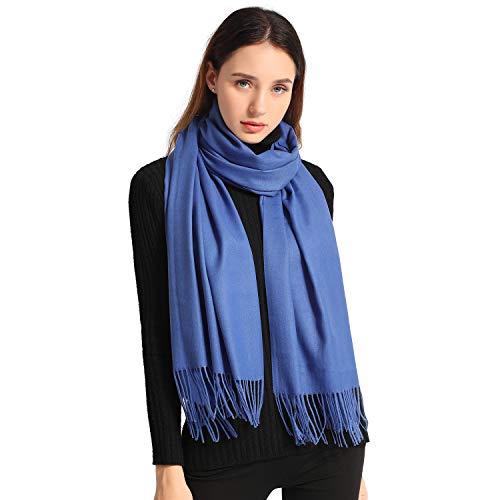 Women Soft Pashmina Scarf Large Cashmere Scarves Stylish Warm Blanket Solid Winter Shawl Elegant Wrap 78.5