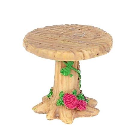 ADSIKOOJF Mesa y sillas en Miniatura de Resina Micro jardín ...