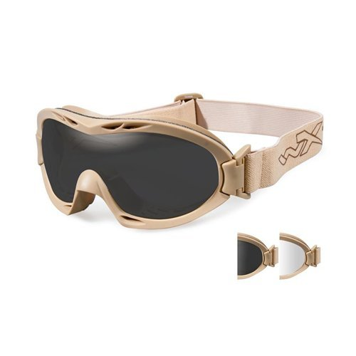 Wiley X Nerve Sunglasses, Smoke Grey/Clear, Tan (Wiley X Saber Advanced Sonnenbrille)