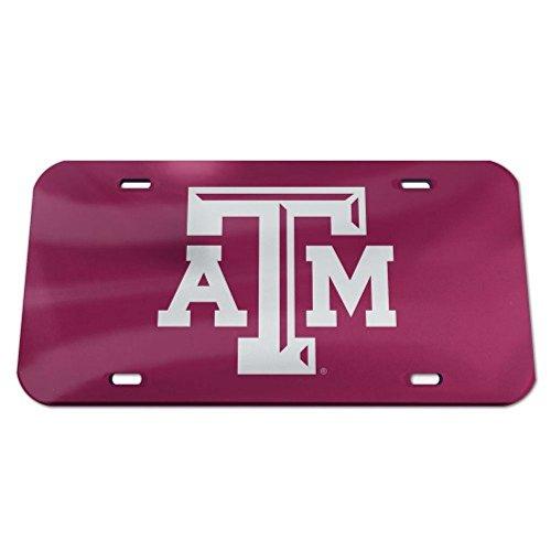 - Texas A&M Aggies Logo Crystal Mirror License Plate