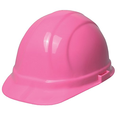 Hard Hat with Slide Lock, Flourescent Pink