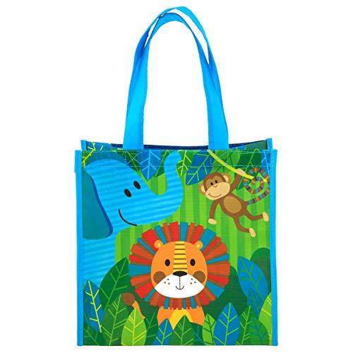 Stephen Joseph Kids Medium Recycled Gift Bag, Zoo