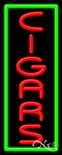 (13x32x3 inches Cigars NEON Advertising Window Sign)