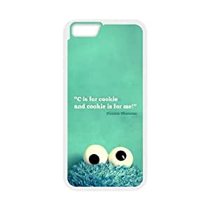 cookie and cookie is for me. Cookie Monster - Black plastic case / Inspirational and motivational life quotes ,TPU Phone case for iphone6 4.7 inch,white