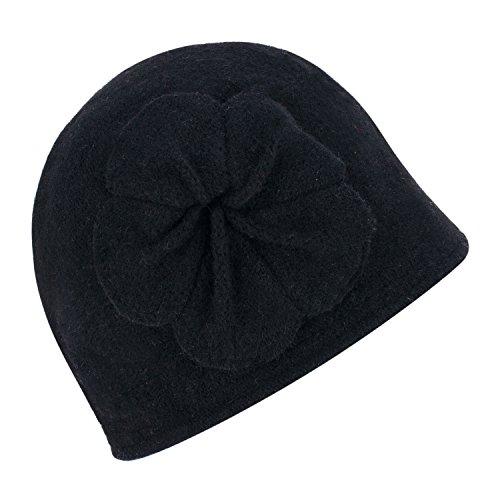 Lawliet Gatsby 1920s Winter Wool Cap Beret Beanie Bucket Floral Hat A289