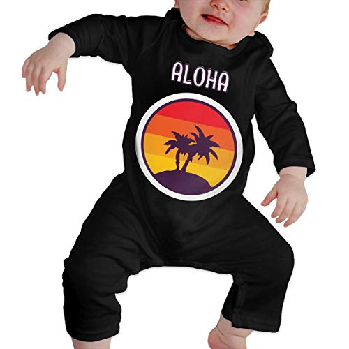 Newborn Kids Romper Aloha Hawaii Retro Long Sleeve Jumpsuit Playsuit Outfit Clothes