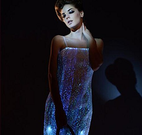 Glow In The Dark Dresses Light up Prom Dresses Fiber Optic Ball Dresses (L) by Fiber Optic Fabric Clothing (Image #3)