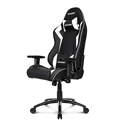 AKRacing Core Series SX Gaming Chair with High Backrest, Recliner, Swivel, Tilt, Rocker and Seat Height Adjustment Mechanisms with 5/10 Warranty - White