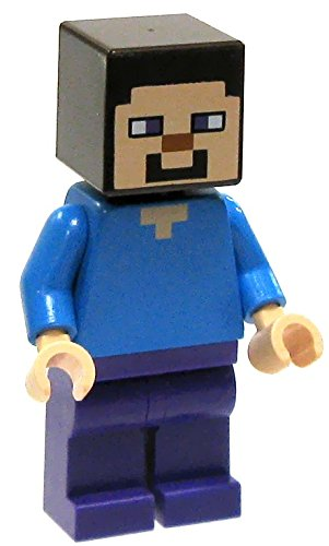 amazon com lego minecraft minifigure steve toys games