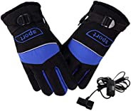 Men Heated Gloves, Electric Heating Gloves, Temperature Control Hand Warmer, Winter Riding Gloves For Outdoor