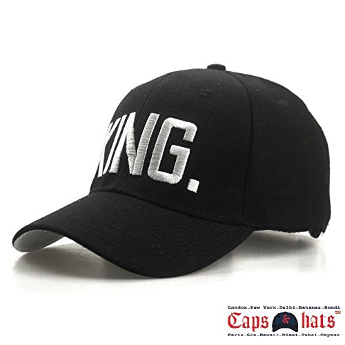 7b7f98091c8 Embroidered Letter KING Baseball Cap Adjustable Hat (Black)  Amazon.in   Clothing   Accessories