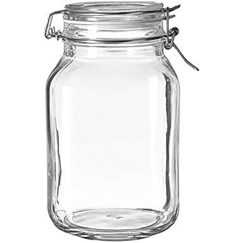 Amazon Com Bormioli Rocco Fido Clear Jar 67 75 Oz