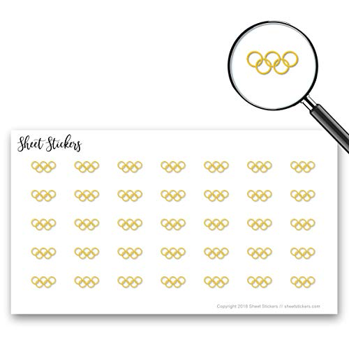 Olympic Rings Games Sign Rings Olympic, Sticker Sheet 88 Bullet Stickers for Journal Planner Scrapbooks Bujo and Crafts, Item 767900