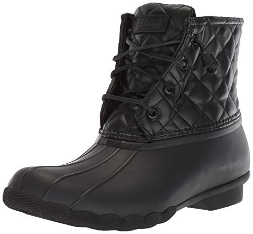 Saltwater Quilted Lux Boot, BLACK, 8 M US