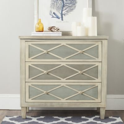 mes Collection Everley Tan 3 Drawer Chest, Standard (Collection 3 Drawer Dresser)