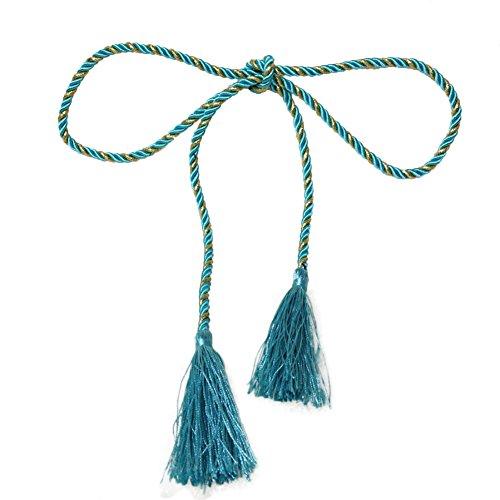 Daxin Window Cotton Rope Tie Backs Curtain Fringe Tiebacks Room Tassel Decor 15 Colors