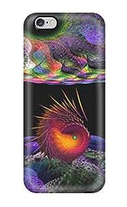 Excellent Design Fractal Creature Phone Case For Iphone 6 Plus Premium pc Case