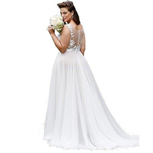 Banfvting Simple Beach Wedding Dresses Plus Size Bridal Gown