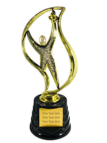 Trophy Crunch - Custom Oscar, Star, Victory Achievement Trophies - Classic Victory Torch Outreach - Custom Plate Engraving