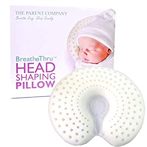 Breathe-Thru Baby Head Shaping Pillow (Infant, White)
