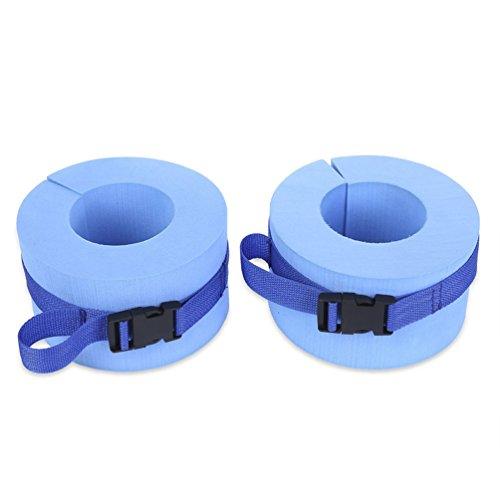 RUNACC Foam Swim Aquatic Cuffs Hydrotherapy Ankle Cuff Swimming Weights with Quick Release Buckle, Set of 2, Blue by RUNACC
