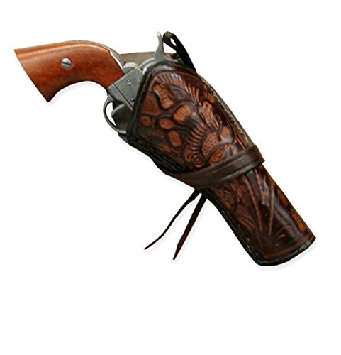 1800's Western Costumes (Historical Emporium Men's Right Hand Tooled Leather Western Cross Draw Holster Two-Tone Brown)