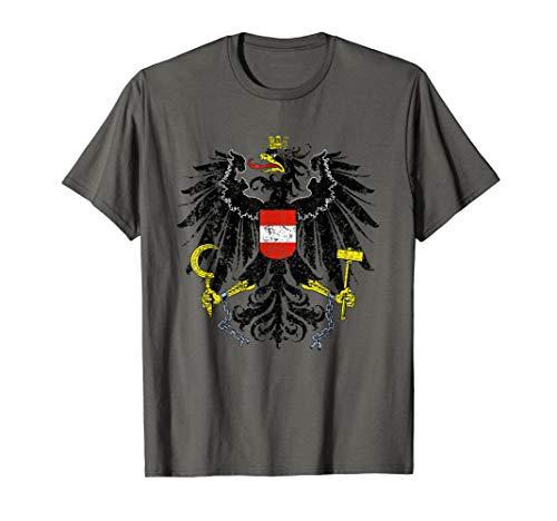 Austrian Flag Austria Coat of Arms Vienna Eagle Shield T-Shirt