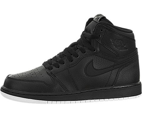 Nike Jordan Men's Air Jordan 1 Retro High OG Black/White Black Basketball Shoes Size 6Y (GS)