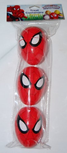 3 Spiderman Treat Containers for Easter Basket Easter Eggs Party (Easter Basket Containers compare prices)