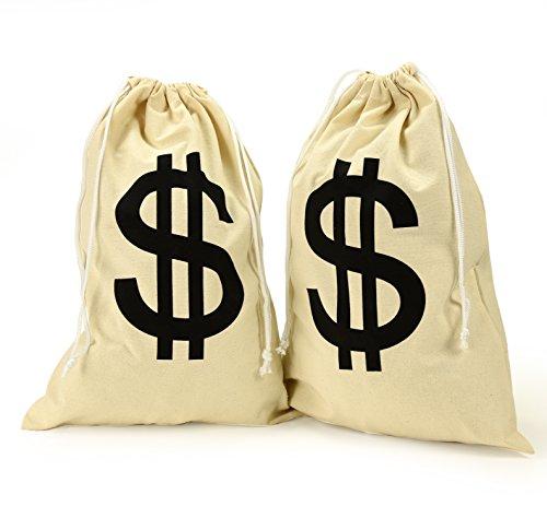 Canvas Drawstring Bag Natural Money Bag, Drawstring Closure