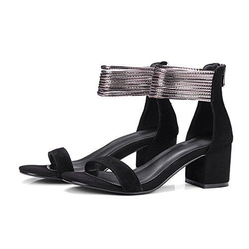 BalaMasa Womens Non-Marking Mini-Size Cold Lining Urethane Sandals ASL05051 Black O2iYw