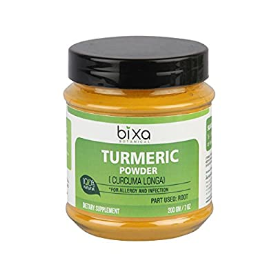 Turmeric Root Powder with Curcumin (Curcuma Longa / Haldi) | Herbal Supplement For Allergy and Infection | Externally helps to heal the wounds
