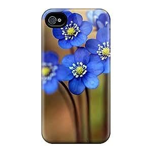 Anti-Scratch Hard Phone Cases For Iphone 6 With Unique Design Trendy Blue Flowers Skin JamieBratt
