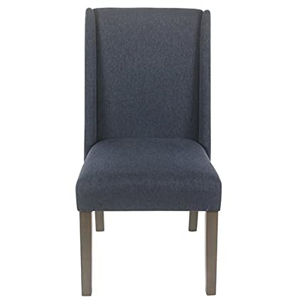 Amazon.com - HomePop Dinah Modern Dining Chair, Set of 2, Navy - Chairs