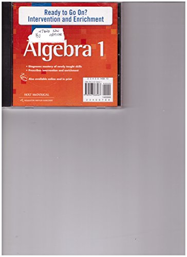 Holt McDougal Algebra 1: Ready to Go On? Intervention and Enrichment CD-ROM