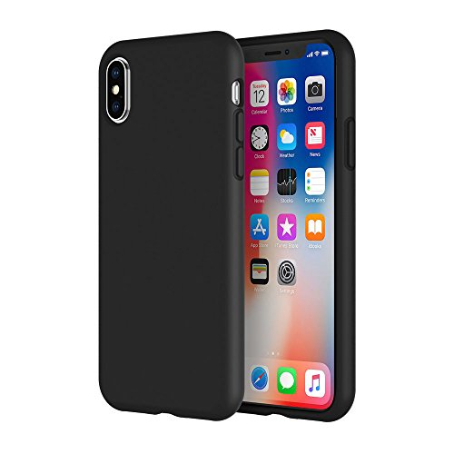 LAUDTEC Silicone Case iPhone Xs Max Ultra-Thin Anti-Slip Shock-Resistant Silky Touch Heat Dissipation Honey-Comb Grid Triple-Layer Full Body Camera Protection Wireless Charging Life-time Warranty