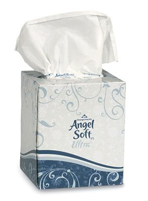 Angel Soft Facial Tissue - Cube Box (2-Ply) - 96 Tissues Per Box (36 Boxes) - AB-310-1-16