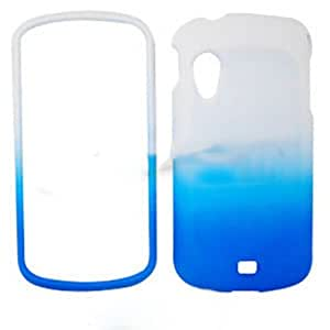 RUBBER COATED HARD CASE FOR SAMSUNG STRATOSPHERE I405 RUBBERIZED TWO COLOR WHITE BLUE by runtopwell